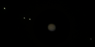 Composite of Jupiter and Galilean satellites (100% size)
