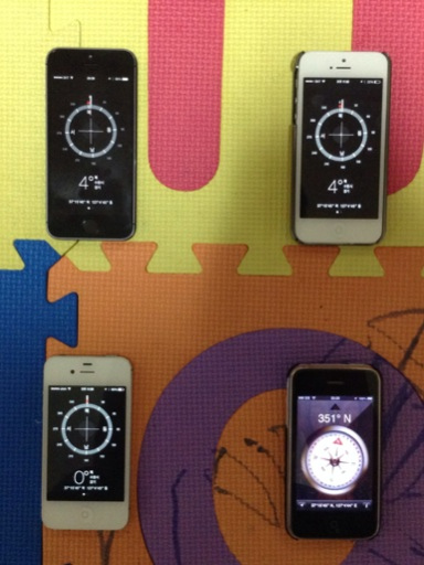 Compass readings from iPhone 5S/5/4S/3GS